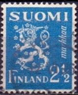 Finland 1932 2.50mk Leeuw Blauw GB-USED