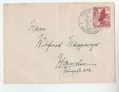1939 DETMOLT Germany EVENT Pmk COVER With  12+6pf Winter RELIEF Stamps - Germany