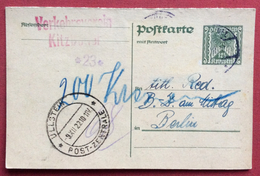 CORRESPONDENZ - KARTE  AUSTRIA 12,5 K.  RISPOSTA UNITA DA KITZBÜHEL A BERLIN + ULLSTEIN POST - ZENTRALE 9/12/22 - 1850-1918 Empire