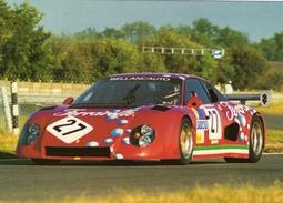 24 Heures Du Mans 1984   -  Ferrari 512 BB  -  Pilotes: Micangeli/Marazzi/Lacaud  -  Carte Postale - Le Mans