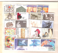 FRANCE Vrac Thème Art Tableaux Lot 140 Timbres Oblitérés - 168 - Stamps