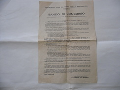 VOLANTINO BANDO DI CONCORSO CONSORZIO PER LA CASA DELLO STUDENTE MILANO 1960. - Historical Documents