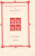 1925 - Exposition Internationale De  Timbres - Poste  2scane - Blocs & Feuillets