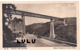 DEPT 63 :  2 Scans Carte Menu De L Hotel Gaillard-Chaffraix , Viaduc Des Fades ( Tel.  Les Ancizes 3 ) - Non Classés