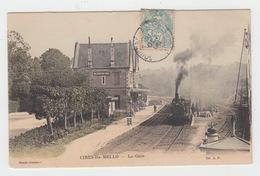 60 - CIRES LES MELLO / LA GARE AVEC TRAIN - Francia
