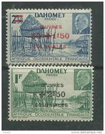 DAHOMEY N° 153/54 X Village Lacustre Et Effigie Du Mal Pétain Surch. Oeuvres Colo. La Paire  Trace De Charnière Sinon TB