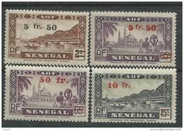 Sénégal  N° 189 / 95  X  La Série Des 7 Valeurs Surchargées  Trace De Charnière, SinonTB