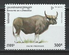 Kambodscha Mi 1511 ** MNH Bos Gaurus