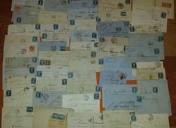 """France Lot De 100 Lettres Classiques ( Quelques Sage) - La Plupart """"BLEUS""""  - DEPART 1 EURO - Postmark Collection (Covers)"""