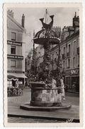 """DIEPPE--1957--La Fontaine Du Puits Salé (petite Animation,pub""""Petit Journal,Echo De Paris,Journal De Rouen)-cachet Phare - Dieppe"""