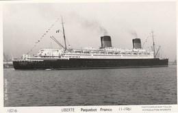 LIBERTE - PAQUEBOT FRANCE - 11.1961 - TRES BELLE CARTE PHOTO - TOP !!! - Passagiersschepen