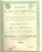 Ateliers E.R. Lataire Frères - Eeklo - Non Classés