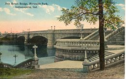 Etats Unis. Street Bridge, Riverside Park, Indianapolis - Indianapolis