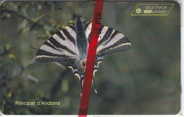AND-079 TARJETA DE ANDORRA MARIPOSA III (BUTTERFLY) NUEVA-MINT - Andorra