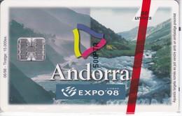 AND-090 TARJETA DE ANDORRA EXPO-LISBOA (NUEVA-MINT) - Andorra