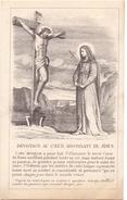 Devotie - Devotion - Au Coeur Agonisant De Jésus - Louvain Leuven 1871 - Faire-part