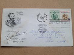 Honoring LAJOS KOSSUTH Champion Of LIBERTY 1802-1894 / WASHINGTON 19 Sep 1958 ( Zie Foto Voor Details ) ! - 1951-1960