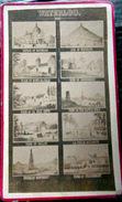 MOSAIQUE WATERLOO 10 VUES REUNIES SUR UNE MEME PHOTO NAPOLEON   FORMAT CARTE DE VISITE CDV VERS 1890 - Personnes Anonymes