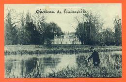 """CPA Pinterville """" Chateau De Pinterville """" Pecheur - LJCP 30 - Pinterville"""