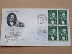 A. LINCOLN 1809-1859 Sesquicentennial Series / HODGENVILLE 12 Feb 1959 ( Zie Foto Voor Details ) ! - 1951-1960