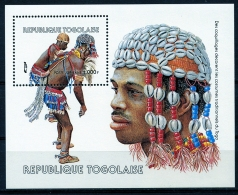 Togo, 1985, Shells, Shell Jewelry, MNH, Michel Block 264 - Togo (1960-...)