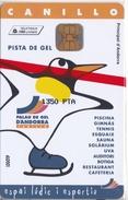 AND-110 TARJETA DE ANDORRA PISTA DE GEL (PINGUINO-PENGUIN) NUEVA-MINT - Andorra