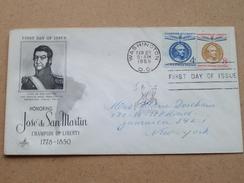 Honoring José De SAN MARTIN Champion Of LIBERTY 1778-1850 / WASHINGTON 25 Feb 1959 ( Zie Foto Voor Details ) ! - 1951-1960