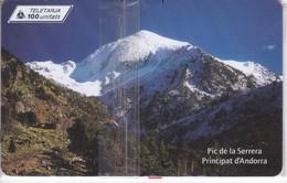 AND-115 TARJETA DE ANDORRA PIC DE LA SERRERA (NUEVA-MINT) - Andorra