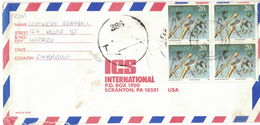 AZ60       Zimbabwe 1990 Letter From Harare To Scranton USA Taxed - Zimbabwe (1980-...)