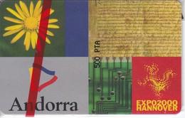 AND-118 TARJETA DE ANDORRA EXPO HANNOVER (NUEVA-MINT) - Andorra