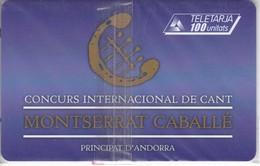 AND-123 TARJETA DE ANDORRA CONCURS DE CANT (NUEVA-MINT) - Andorra