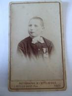 26012017 -  PHOTO D'UN PETIT GARCON MEDAILLE    - L. MULLER-RAULT PARIS - Antiche (ante 1900)