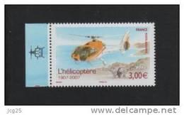 FRANCE 2007-1 Timbre (1) Tiré Du Feuillet-Centenaire HELICOPTERE Cornu N°YT PA 70a** Gommé 3.00€ BDF