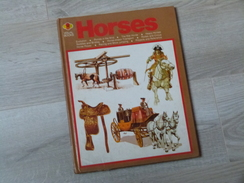 HORSES .CHEVAL.1975. 50 PAGES. HISTOIRE DU CHEVAL DES ORIGINES A MAINTENANT. EN ANGLAIS. 23X29CM. - Livres, BD, Revues
