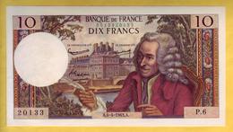 BILLET FRANCAIS - Billet Fauté - 10 Francs Voltaire 4-4-1963 SPL - Fautés
