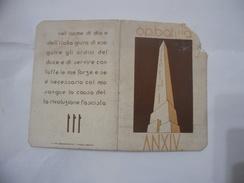 TESSERA OPERA NAZIONALE BALILLA 1929 MILANO. - Documents Historiques