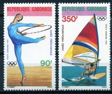 Gabon, 1983, Olympic Summer Games Los Angeles 1984, Gymnastics, Sailing, MNH, Michel 848-849