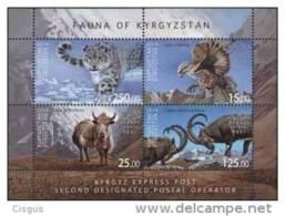 Kirgistan 2014 MNH** Mi. Nr. 809-812 Bl.72 A  With Perforation Fauna Of Kyrgyztan