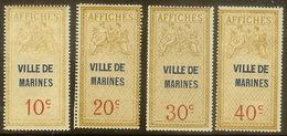 Marines, Val-d'Oise : Timbres D'affichage Type Allégorie D'Oudiné/Daussy, 4 Valeurs, Dentelés, Neuf Avec Ch. - Fiscali