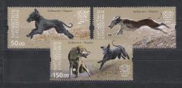 Kirgistan 2016 MNH** Mi. Nr. KEP 30-32 Salbuurun Traditional Hunting Dogs
