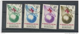 BURUNDI- 100 ANS DE LA CROIX ROUGE-  N° Yvert  58/61 Obli. - Burundi