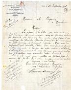 PARIS   MARCHAND GRAINIER  VILMORIN  -  VOIR TYPE SAGE  -  LETTRE COMMERCIALE 1892 - Frankreich