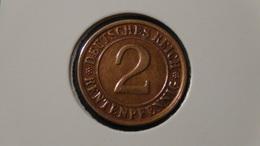 """Germany - Weimarer Republik - 1923 - 2 Rentenpfennig - Mintmark """"D"""" – Munich - KM 31 - VF - Look Scans - [ 3] 1918-1933: Weimarer Republik"""