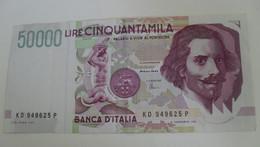 1992 - Italie - Italy - 50000 LIRE, KD 949625 P, Bernini - 50000 Lire