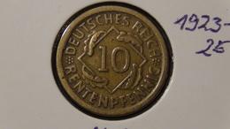 """Germany - Weimarer Republik - 1924 - 10 Rentenpfennig - Mintmark """"D"""" – Munich - KM 33 - VF/F - Look Scans - [ 3] 1918-1933: Weimarer Republik"""