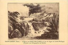Tarn -ref-A228- Saint Juery - Usines Du Saut Du Tarn - Usines - Industrie - Verso Publicite Hauts Fourneaux Saut Du Tarn - Francia