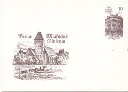 3106  Entero Postal Alemania DDR , Berlin  Martifches Museum 1987 - [6] República Democrática
