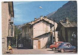 Margone-ALBERGO DEL GALLO VOITURE FIAT -RECTO/VERSO-C77 - Altre Città