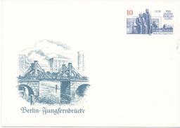 3106  Entero Postal Alemania DDR , Berlin  Jungfernbrucke, Puente 1987 - [6] República Democrática