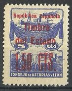 ESPAÑA GUERRA CIVIL ASTURIAS Y LEON NE 4 ** MNH - Asturies & Leon